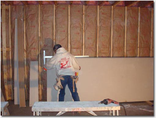 Applying drywall